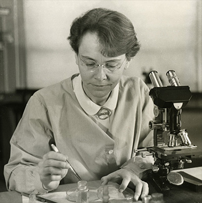 In 1931, Barbara McClintock  published the first genetic map for maize. In 1983, she was awarded the Nobel Prize for Physiology or Medicine -- the first woman to win that prize unshared -- for her work with transposable elements in corn.