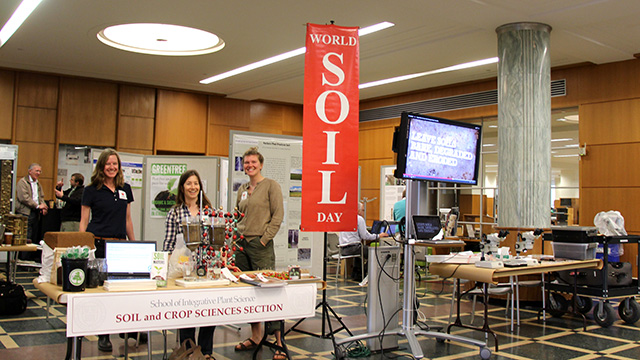 Celebrating soils at Mann Library