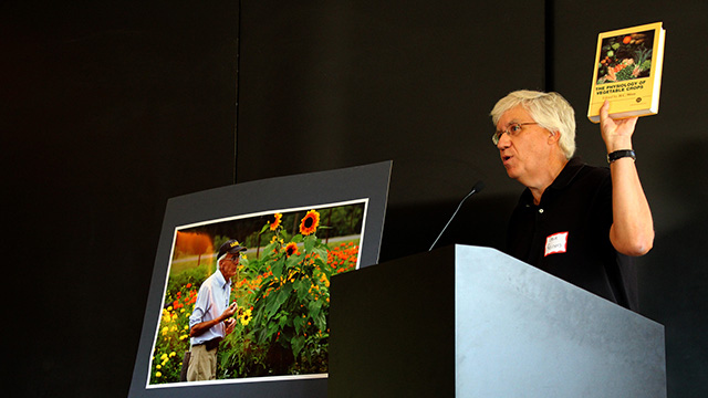 Horticulture Section chair Steve Reiners and others noted that Wien 'wrote the book' on vegetable crop physiology.