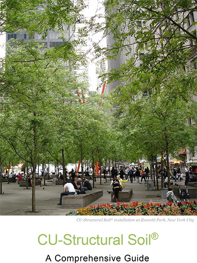 CU-Structural Soil® installation at Zuccotti Park, New York City