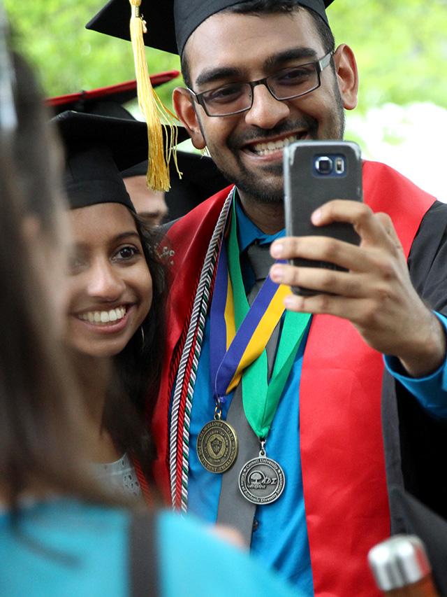 Dhruv Patel shoots a selfie.
