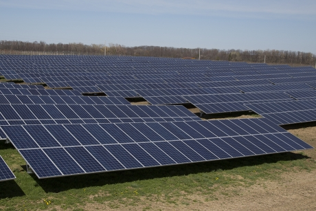The completed Sutton Road Solar Farm became operational April 13. (Photo: Rob Way/NYSAES)