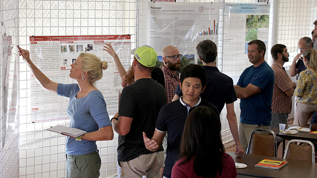 An engaging poster session.