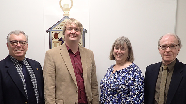 PAX faculty advisors Mark Bridgen, Neil Mattson, Betsy Lamb and Tom Weiler.