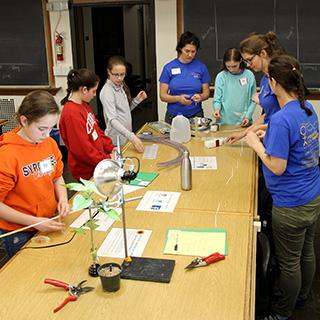 EYH participants assemble water columns .
