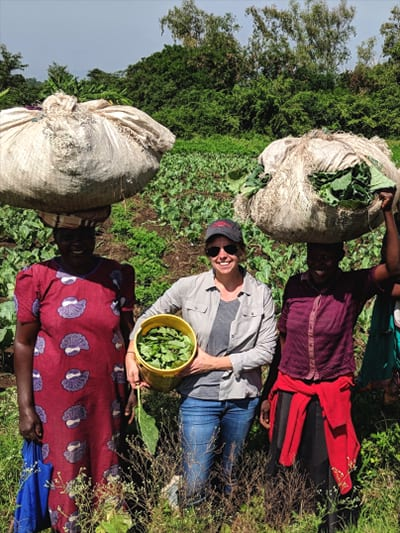 Hannah Swegarden was one of the investigators for the 2018 TSF-funded project, Connecting Consumer Acceptability and Farm Productivity to Improve Collard Varieties for East African Growers.