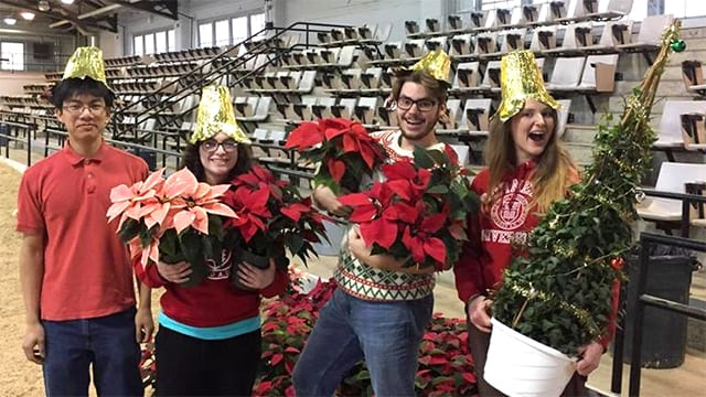 Hortus Forum members at the 2017 Poinsettia Sale