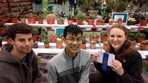 Plant Sciences majors Samuel Sterinbach and Alexander Liu and International Agriculture & Rural Development Major Veronika Vogel brought home a blue ribbon for their Haworthia cooperi and earned 37 other ribbons.