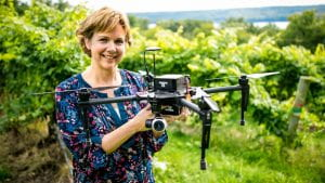 vanden heuval with drone in vineyard