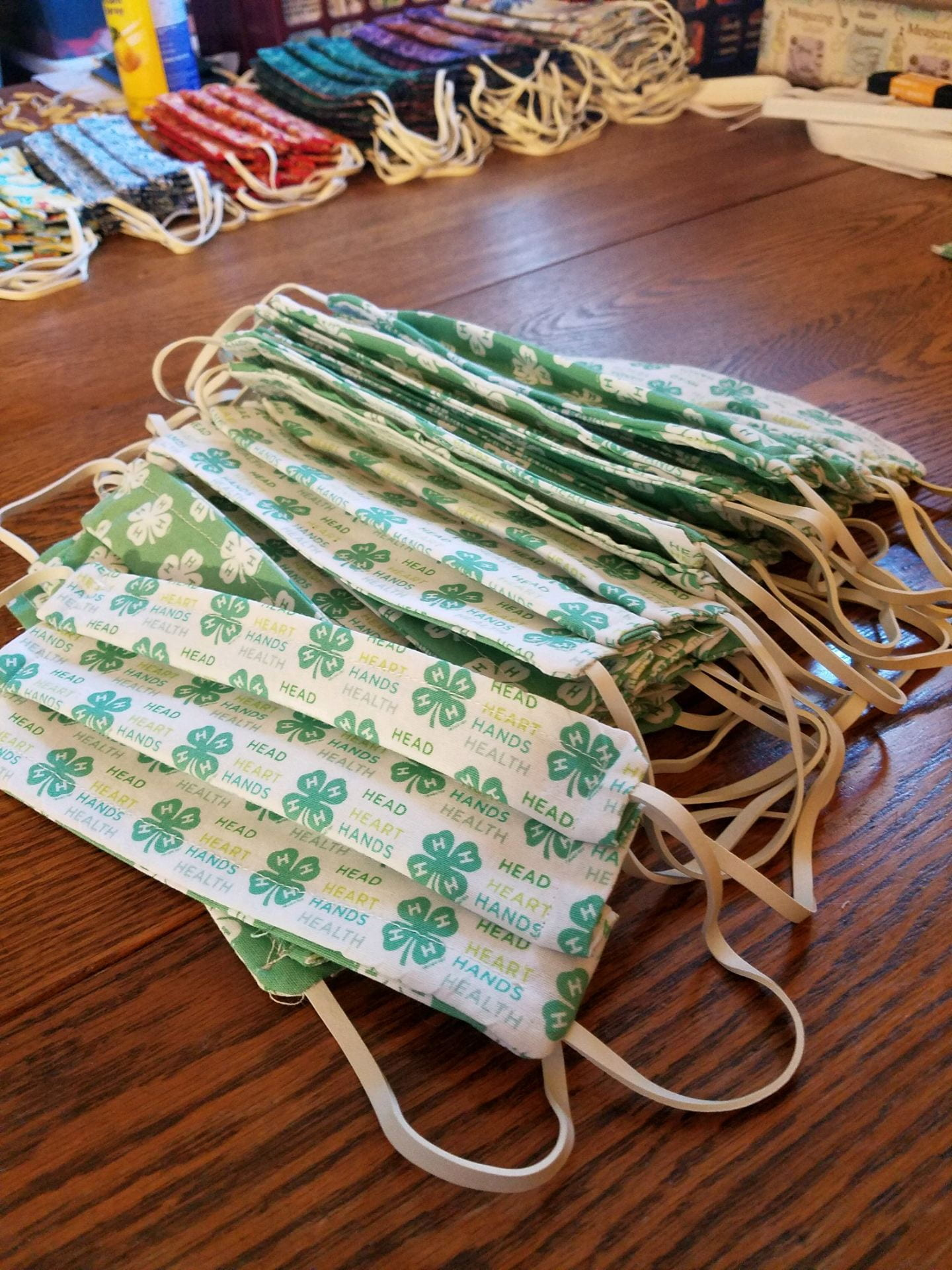 Face masks sewn by Orange County 4-Hers