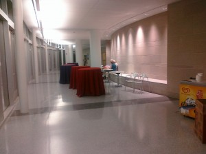 South Passageway set up for Reunion Weekend 2011 event