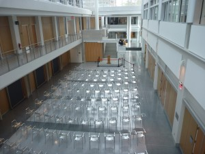 Clark Atrium set up for AEP Graduation Ceremony