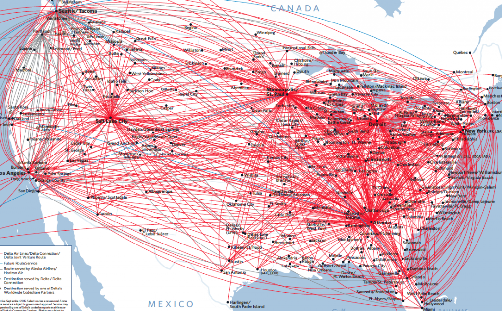 Delta Flight Map on