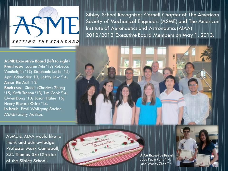 ASME Social gathering