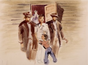 artwork from a Japanese internment camp
