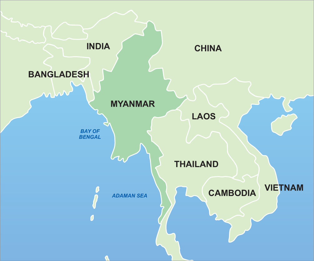The Myanmar Mindset Expecting The Unexpected Genevieve On Leave - Map of burma