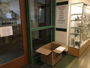 box outside office