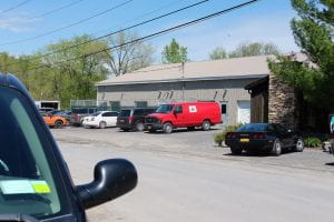 Photo of cars outside the Humane Society of Schuyler County on the day of the wellness clinic run by MSMP at Cornell