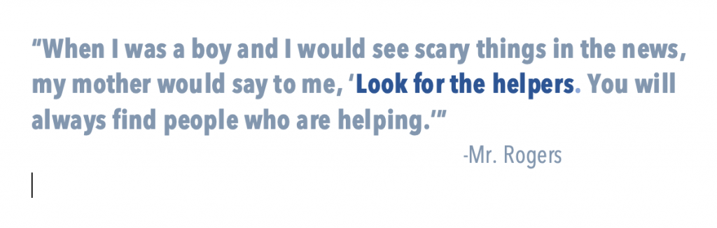 Look for the helpers quote image