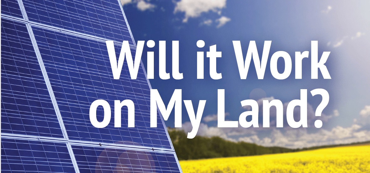 Will it work on my land, with a solar panel in back