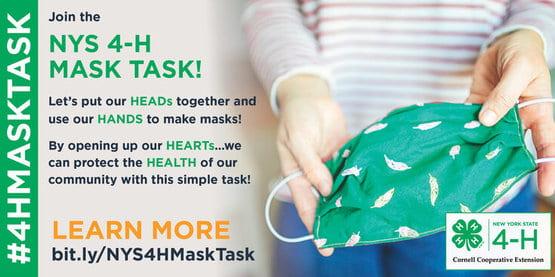 4-H Mask Task Banner
