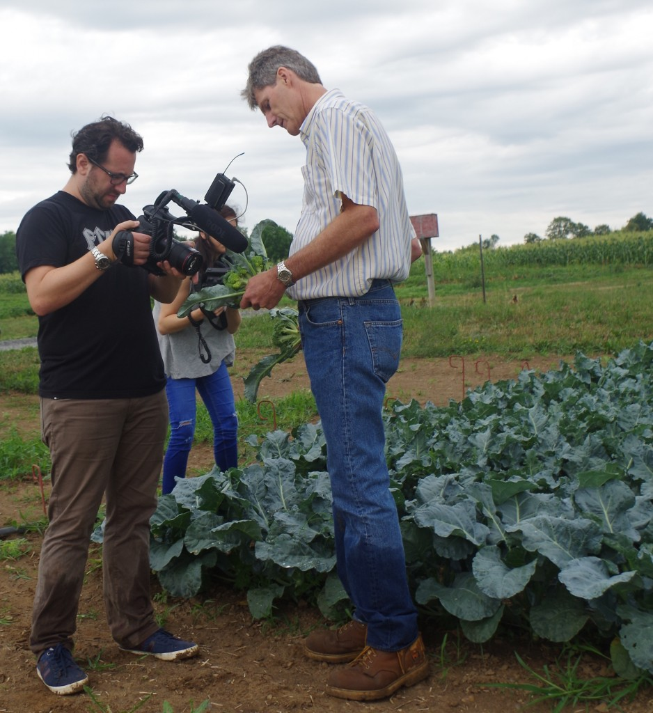 NBC filmed a segment for The Future of Food at the Eastern Broccoli trial site at Cornell University's NYSAES in Geneva NY.