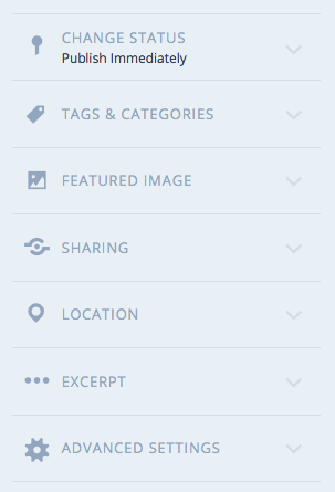 WP new post menu