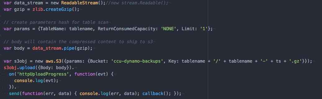 dynamo-backup-streaming