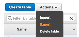 dynamo - export