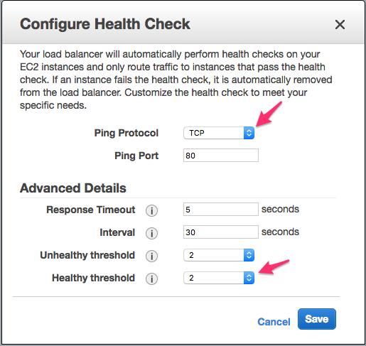 Modified ELB Health Check