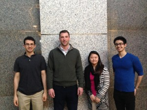The team (Julian, Stella, Dan, and Shannon-not pictured) tours Simpson Gumpertz and Heger Inc. with SGH employee Casey during competition in Boston