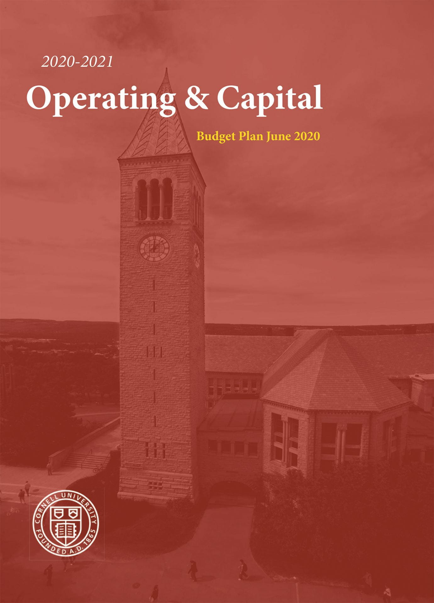 2020-2021 Operating And Capital Plan Cover