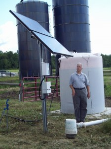 A solar powered remote pumping system in Pultney, NY