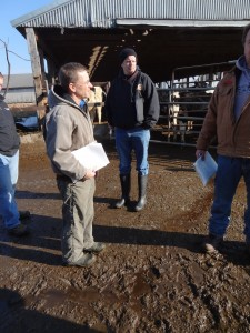 Jim Carrabba and Todd Fiske, NYCAMH Safety Trainers, conducting an on-farm safety survey.