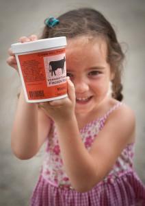 Cedar Mountain Farm daughter Mauve holds Cobb Hill Frozen Yogurt. Credit: Robert Eddy