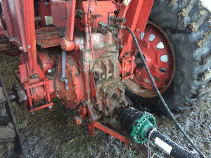A tractor with no three point hitch which can only be used for towed implements.