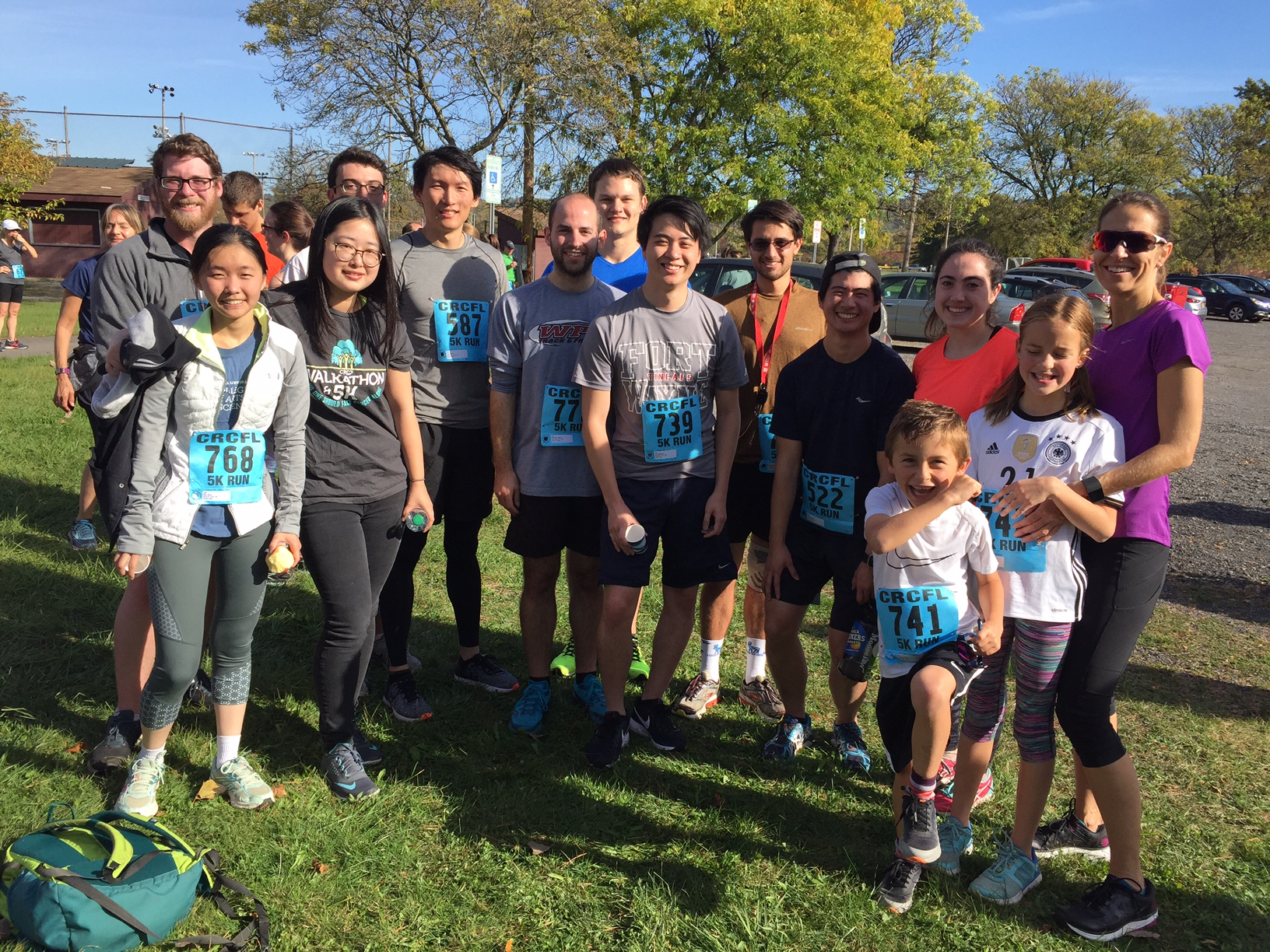 The Fischbach lab at the 2017 Cancer Resource Center 5k race