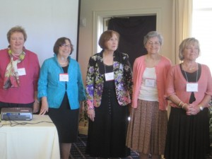 L to R: 2013 - 14 Board Members Barbara Nosanchuk, Mary Sue Schwartz, Nancy Richards