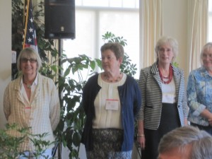 L to R: 2013 - 14 Board Members Marge Kline, Connie Patterson, Wendy Blanchard
