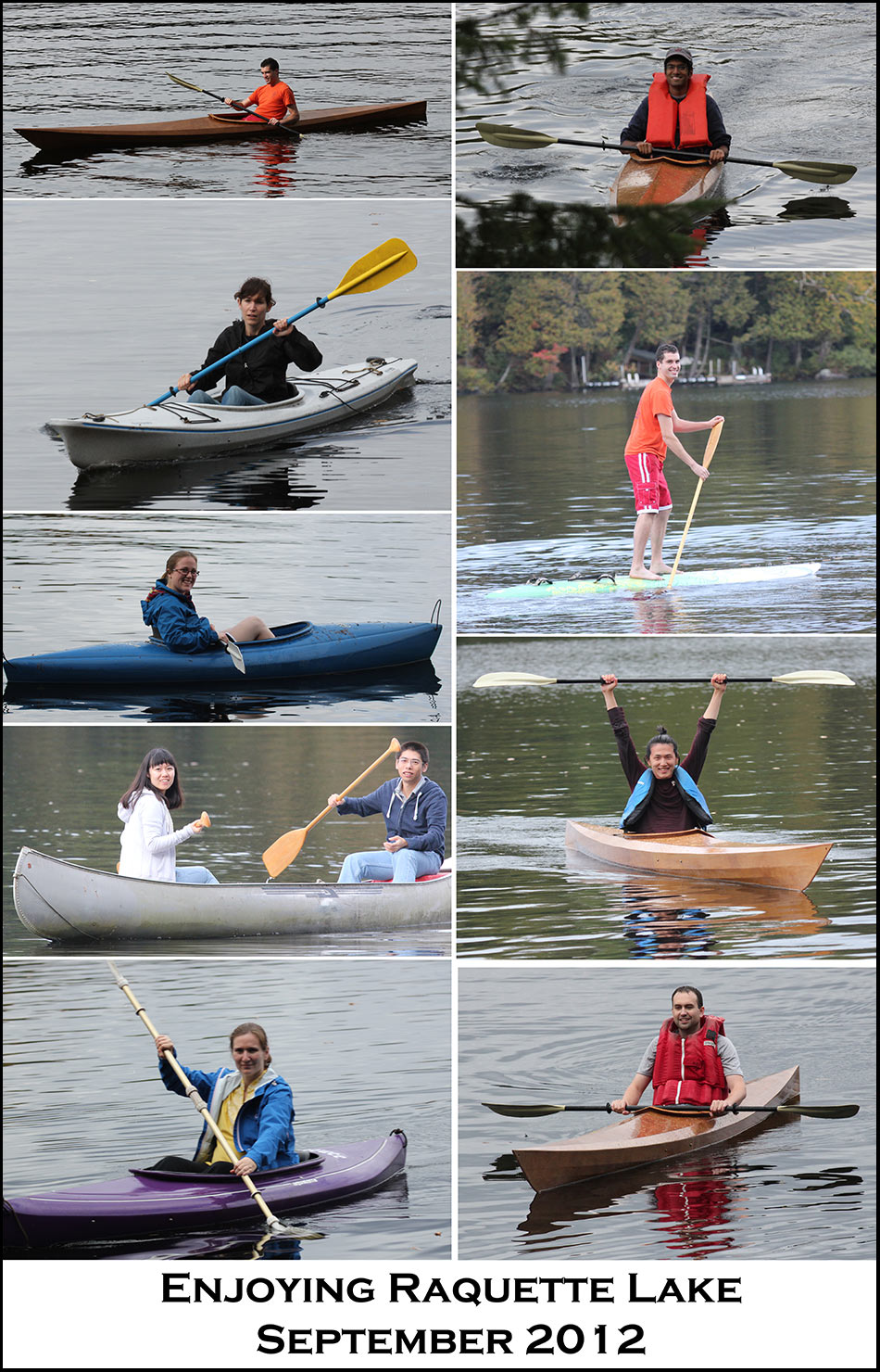 2012 Raquette Lake - collage