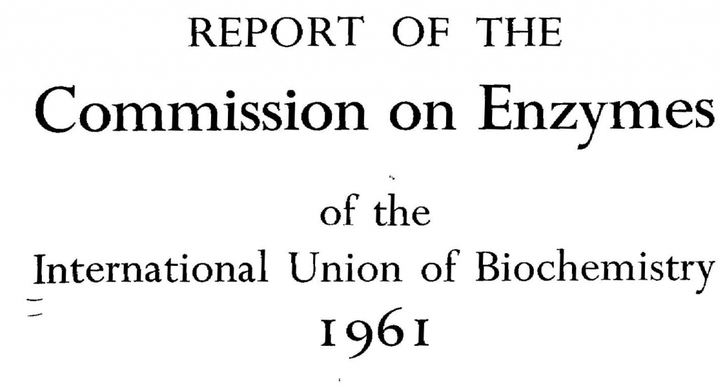 commission on enzymes