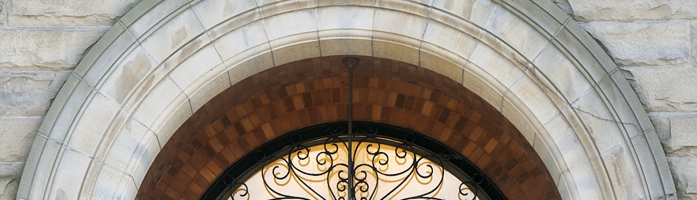 Stimson Hall door. Credit: Charles Walcott
