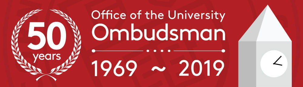 50 years - Office of the University Ombudsman 1969 through 2019