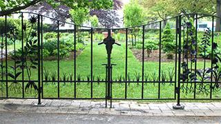West gate to Minns Garden.