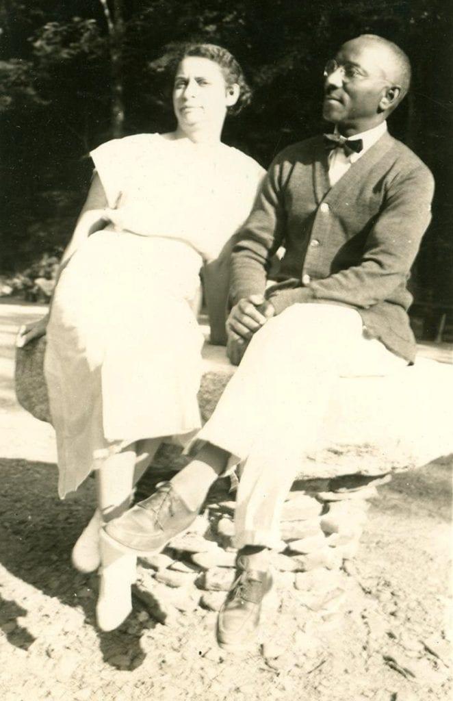 Turner and wife Louise in Enfield, N.Y. 1936.