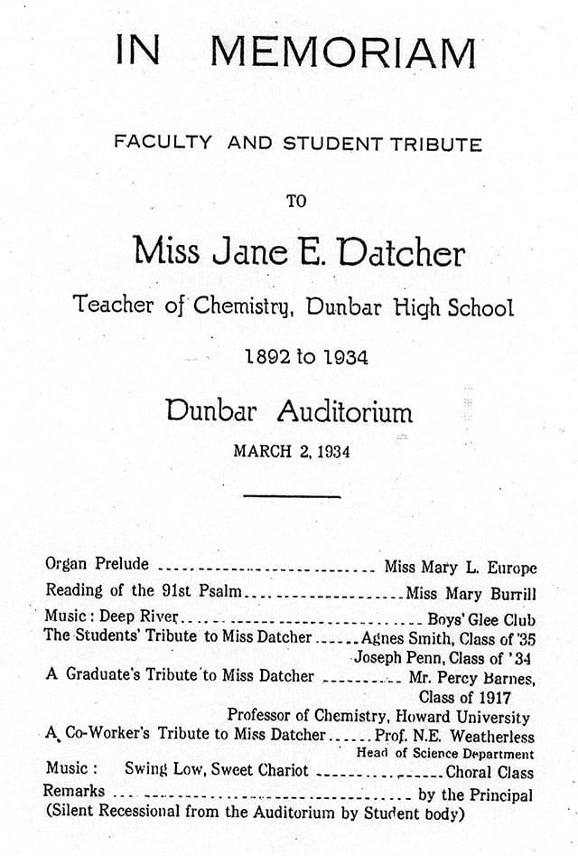 datcher memorium program