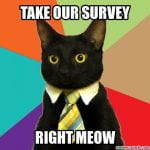take our survey right meow