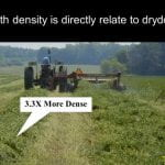 wide swath density is directly related to trying time