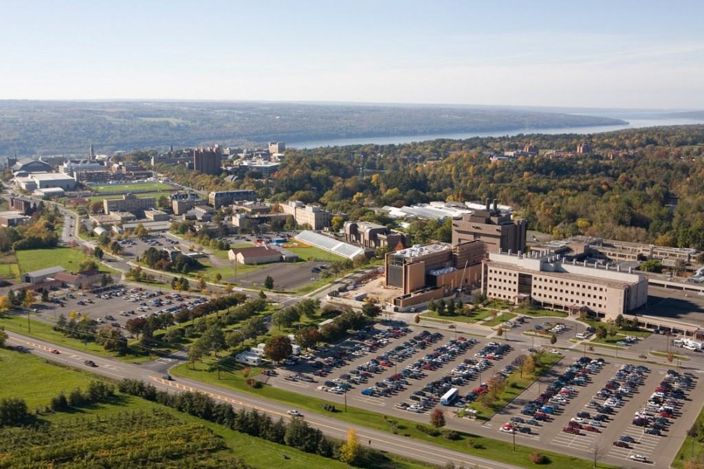 Cornell University, College of Veterinary Medicine in the foreground. Jason Koski/University Photography