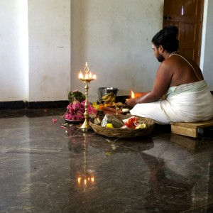 A Hindu priest performs a ritual at a wedding that the NFLC group attended.